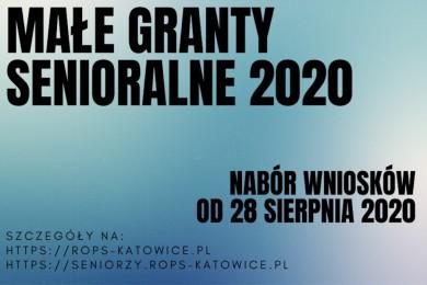 Ruszają GRANTY SENIORALNE 2020